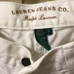 Lauren jeans white size 8 boot cut clean